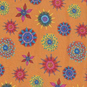 Calypso Floral in Medium Orange