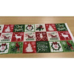 Comfort  Joy Christmas Squares Panel