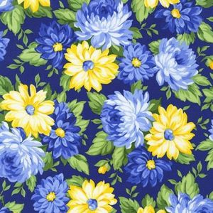 Flowerhouse Sunshine Flowers Bunches in Navy