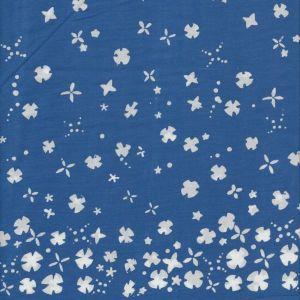 Handcrafted Flowers  Stars in Indigo