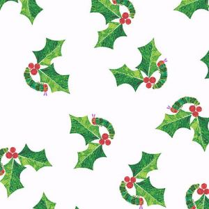 Hungry Caterpillar Holly Leaves in the color White