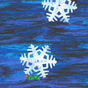 Hungry Caterpillar Snowflakes in the color Navy