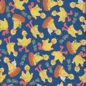 Sesame Street Tossed Big Bird in Blue