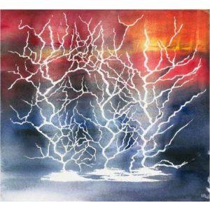 Skylights Lightning Strike Blue/Red Panel