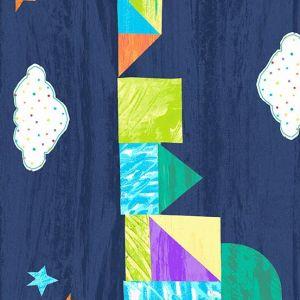The Very Hungry Caterpillar-Bright Dark Blue Castle Stripe
