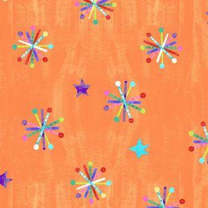 The Very Hungry Caterpillar-Bright Orange Asterisks Stars