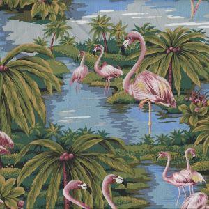 Tropicals Flamingo in Blue