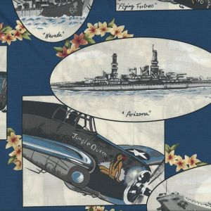 Tropicals Planes-Ships in Blue