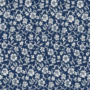Tropicals Small Floral in Navy