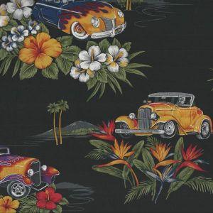 Tropicals Vintage Cars in Black
