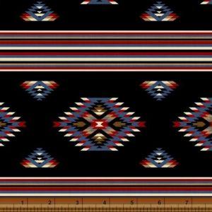American Cowboy Blanket Stripe in Black