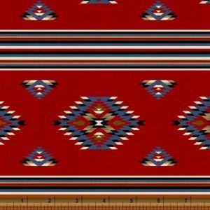 American Cowboy Blanket Stripe in Red