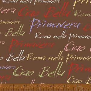 Ciao Bella Brown Italian Phrases