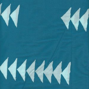 Handcrafted Geese in Aqua