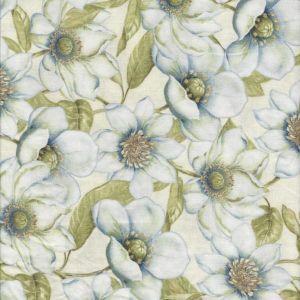 Indigo Nature Magnolias in Ivory