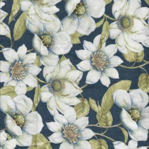 Indigo Nature Magnolias in Navy