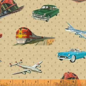 Planes Trains Autos Main in Tan