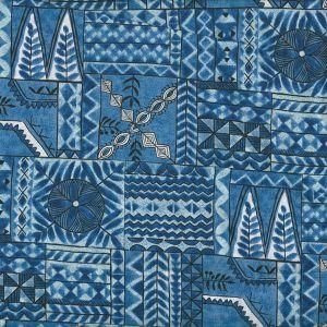 Tropicals Tribal Motif in Blue
