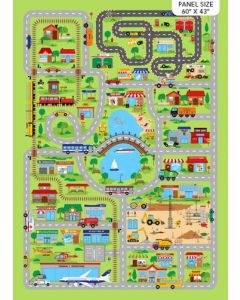All Around Town City Playmat in Greens