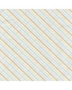 Cotton Tale Diagonal Stripes on White