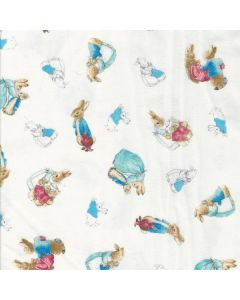 Cotton Tale Flannel Characters in White