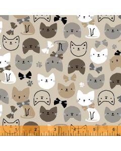 Cubby Bear Flannel Just Kitten Around in Tan