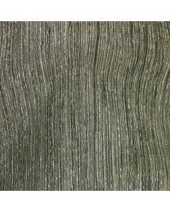 Halston Narrow Accordian Texture Metallic Stretch Sheer in Black
