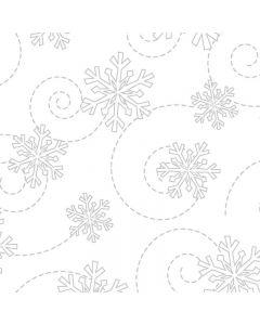 KimberBell Basic White Snowflakes in White on White
