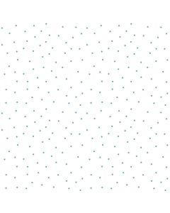 KimberBell Basics Tiny Aqua Dots on White