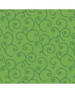 KimberBell Quilt Backing Scroll in Green