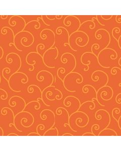 KimberBell Quilt Backing Scroll in Orange