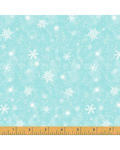 Snow Day Snowflake Storm in Light Blue