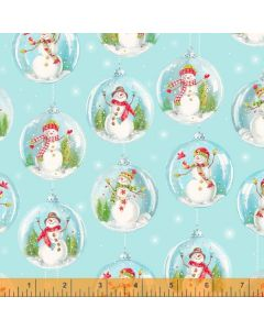 Snow Day Snowman Ornaments in Light Blue