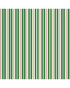 Vintage Holiday Green Stripes