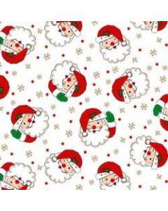 Vintage Holiday White Santa