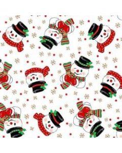 Vintage Holiday White Snowmen