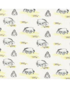 Winnie The Pooh Classic Eeyore with Flowers in White