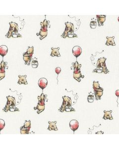 Winnie The Pooh Classic Pooh with Balloons in White